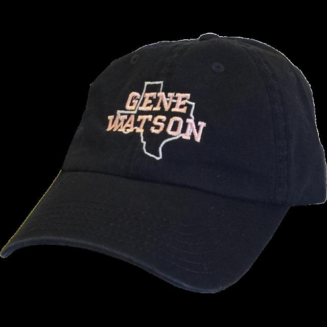 Gene Watson Navy Ballcap- White Texas Outline