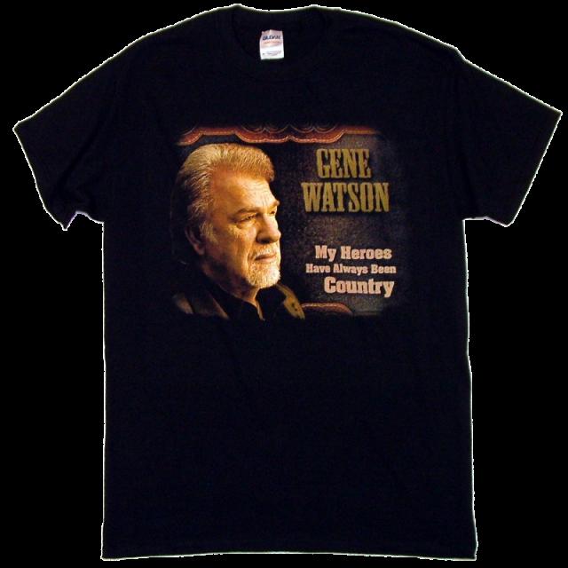 Gene Watson Black Tee- My Heros...