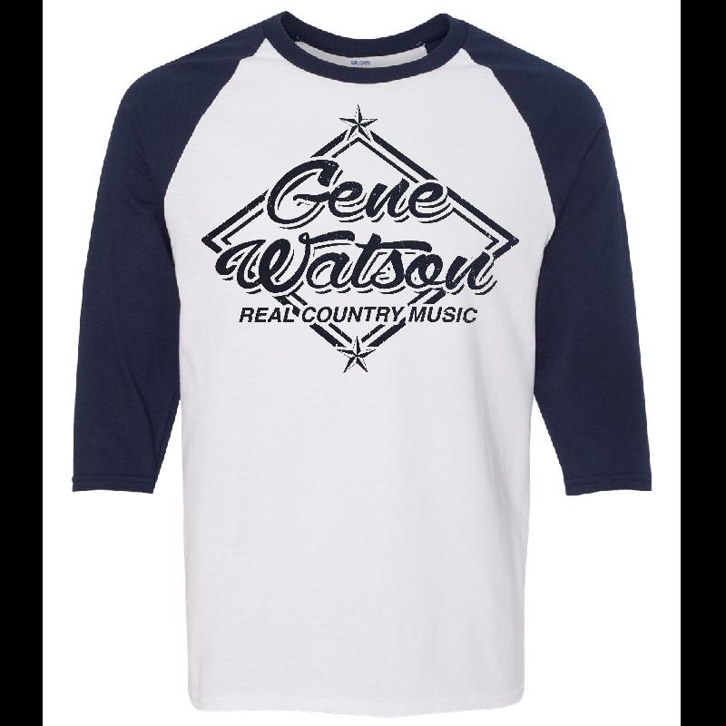 Gene Watson White and Navy Baseball Tee