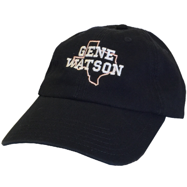 Gene Watson Navy Ballcap- Pink Texas Outline