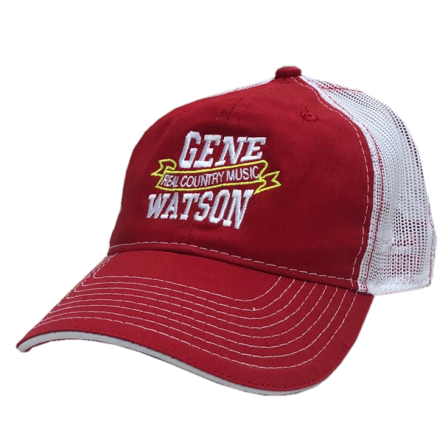 Gene Watson Red and White Ballcap