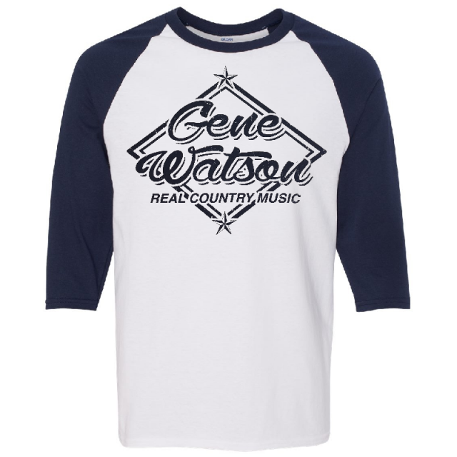 Gene Watson White and Navy Baseball Tee